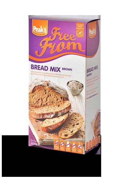 Peak's Free From Broodmix Bruin 450 gram