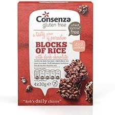 Consenza Rijstblokken Puur 120 gram (4x30 gram)
