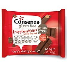 Consenza Crispy Choco Wafers 64,5 gram (3x 21,5 gram)