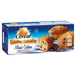 Céréal Mini cakes met stukjes chocolade 230 gram (6 stuks)