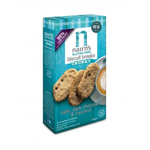 Nairns Biscuit Breaks Oats, Dark Chocolate & Coconut 160 gram (3x3 koekjes)