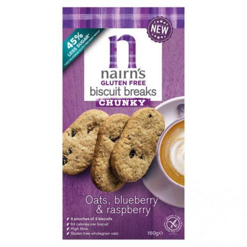 Nairns Biscuit Breaks Oats, Blueberry & Raspberry 160 gram (3x3 koekjes)