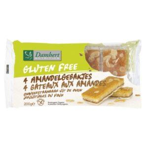 Damhert Amandelgebak Glutenvrij 200 gram (4 x 50 gram)