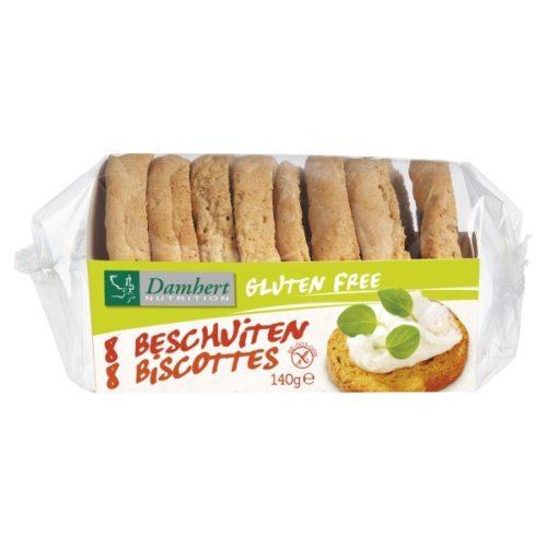 Damhert Beschuit Glutenvrij 120 gram (THT 10/9/19)